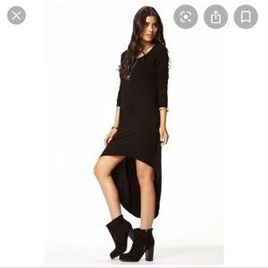 Forever 21 l Black Long Sleeve Hi Low Dress